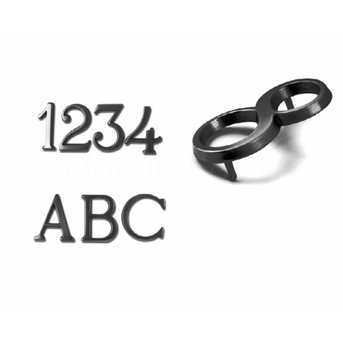 Numero Civico e Lettere 5 cm ottone verniciato antracite - Morelli