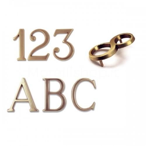 Numero Civico e Lettere 5 cm ottone trattato non scurisce - Morelli