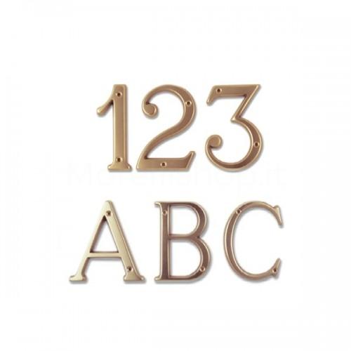 Numero Civico e Lettere 8 cm ottone non trattato - Morelli