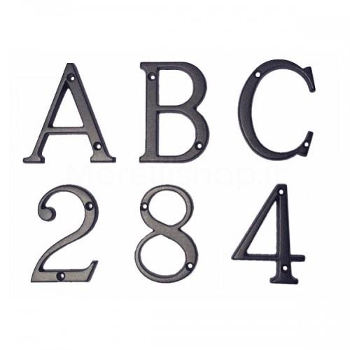 Numero Civico e Lettere 8 cm ottone verniciato antracite - Morelli