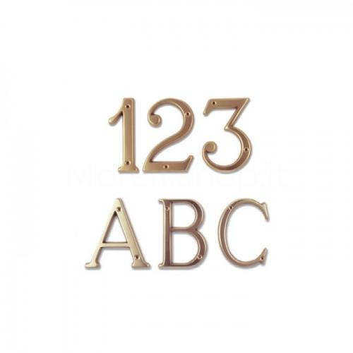 Numero Civico e Lettere 8 cm ottone trattato non scurisce - Morelli