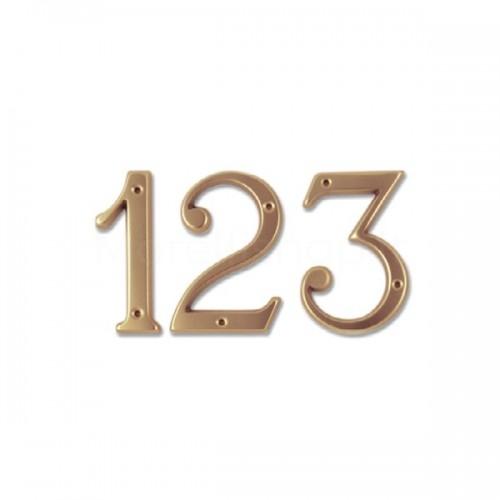 Numero Civico 12 cm ottone non trattato - Morelli