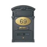 Cassetta postale a muro Mod. DPD/RVS-AQ Morelli Alta Qualità in ghisa