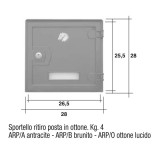 Sportello antracite Mod. ARP/A Morelli ritiro posta per cassetta postale