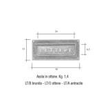 Asola ottone brunito Mod. LT/B Morelli per cassetta postale